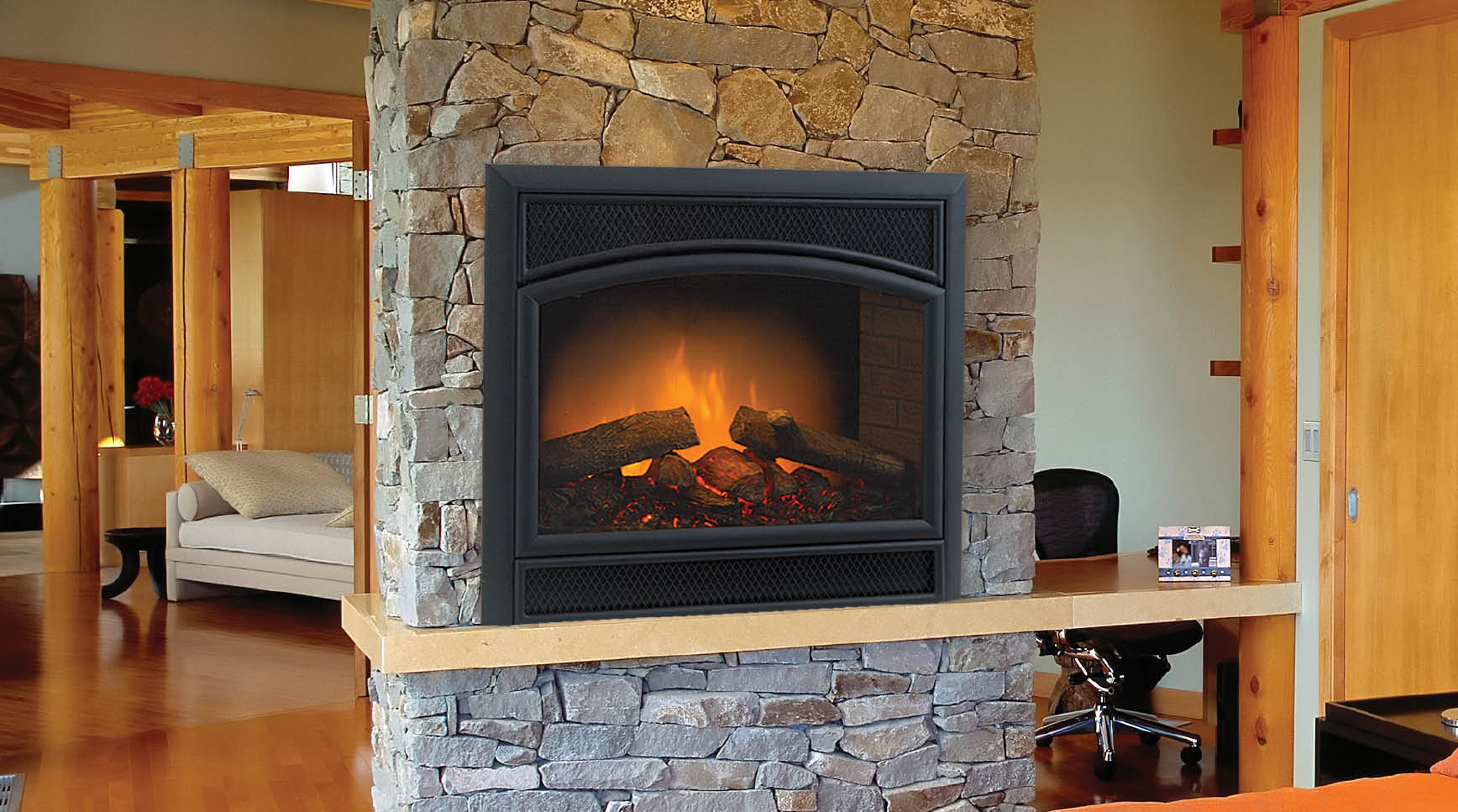 in contemporary built fireplace spectrafire p grc inserts electric insert