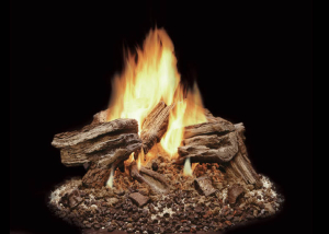 Weathered Pine VENTED GAS LOG SET - Harding the Fireplace