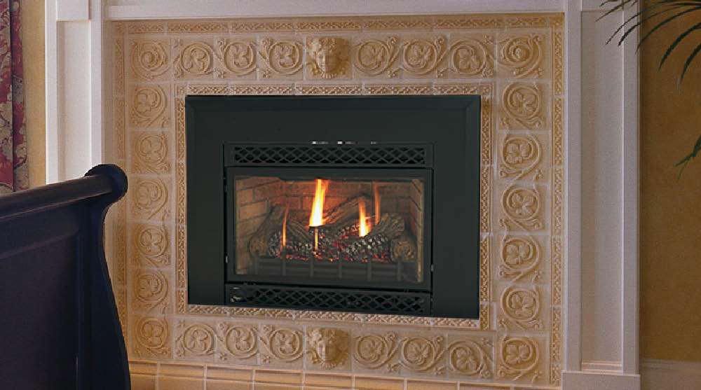 fireplace contemporary beveled chaska gas front products modern insert inserts fireplaces