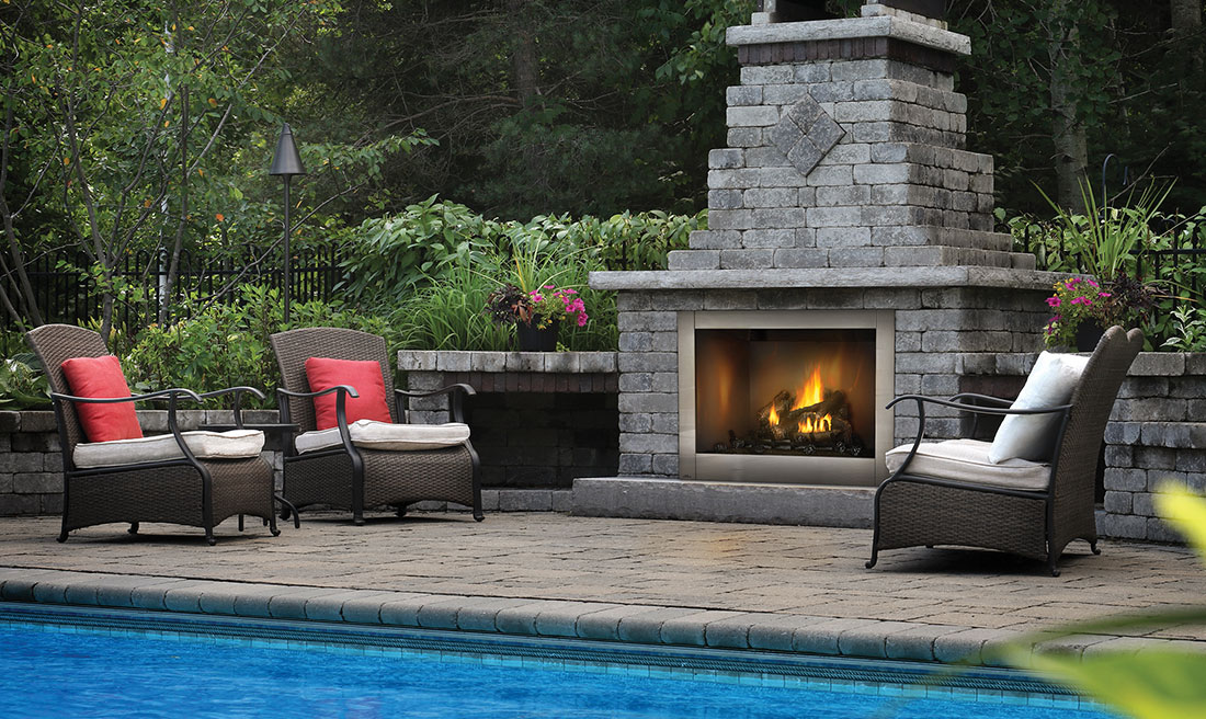 Riverside™ 42 Clean Face - GSS42CF - Harding the Fireplace on Fireplace In The Backyard id=62497