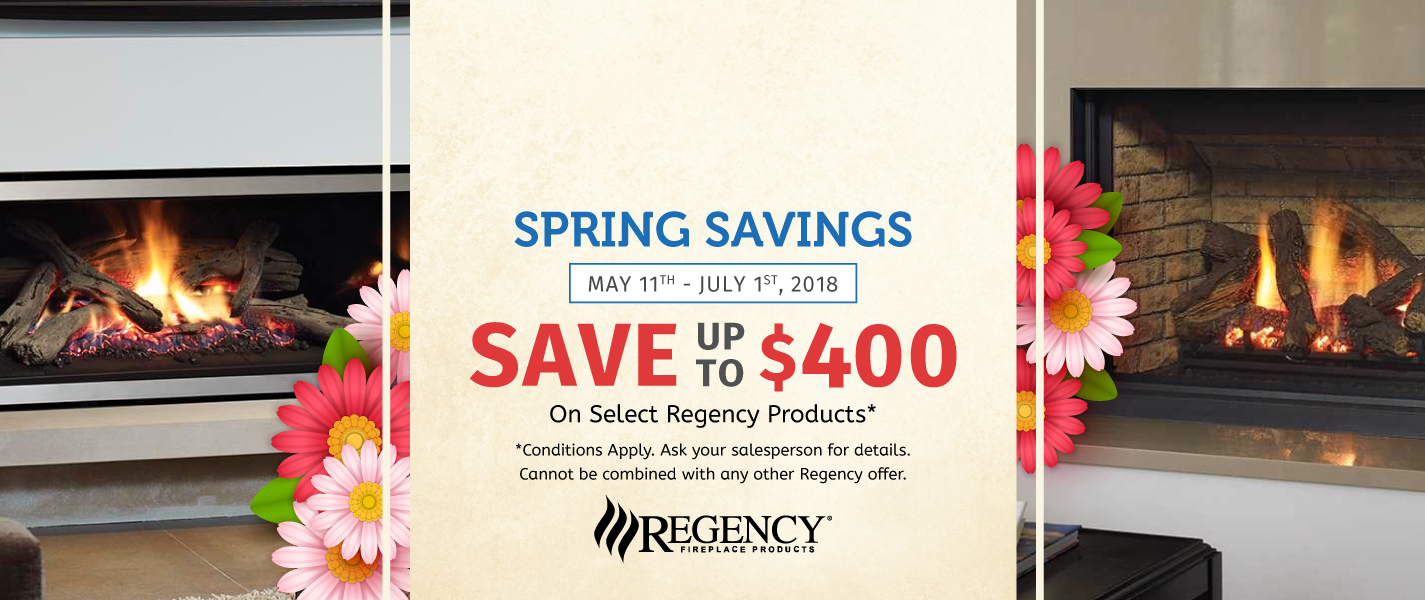 regency spring fireplace sale